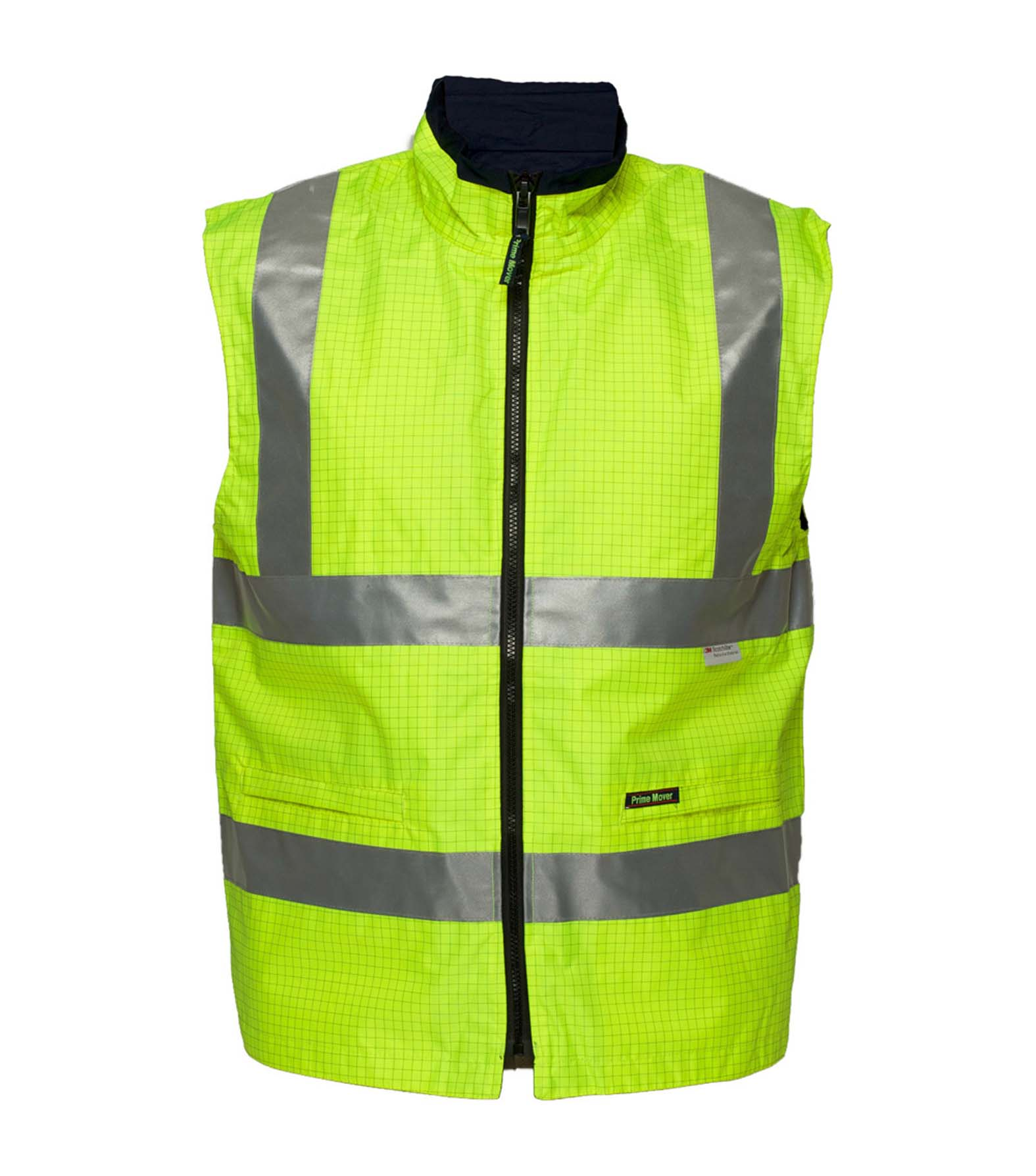 bf1e66366d4a6 PRIME MOVER WORKWEAR   Hi-Vis Workwear Safety Vest Anti Static.