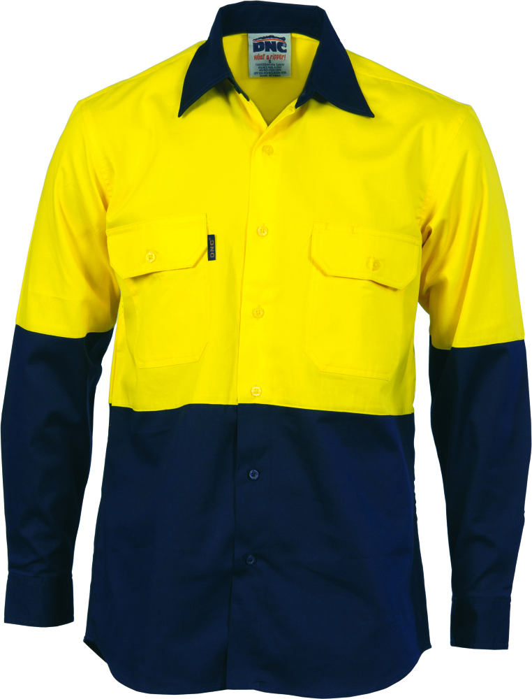75e262e15 DNC Long Sleeve Two Tone HI-Vis Cool Breeze Vertical Vented Shirt