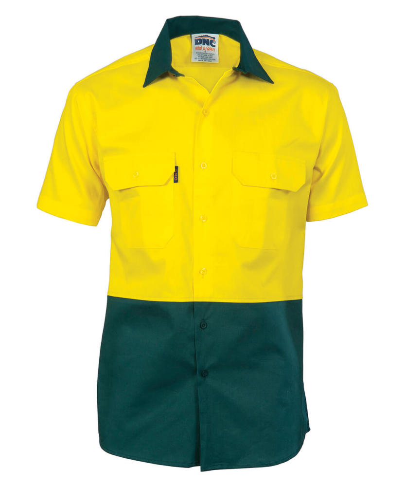 3ff8e2dc4 DNC Short Sleeve Hi-Vis Two Tone Cotton Drill Shirt